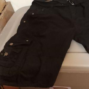 The Image Black Cargo Shorts